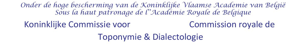Toponymie & dialectologie